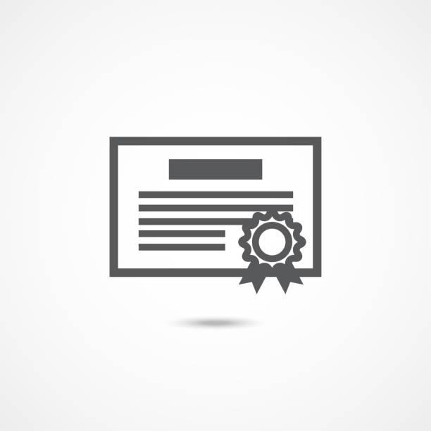 Debenture icon on white Debenture icon on white background debenture stock illustrations