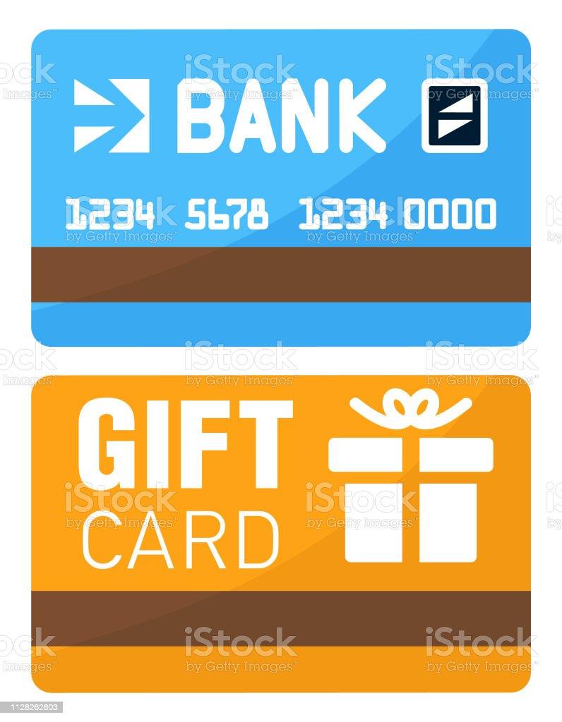 Ec Karte Usa.Eckarte Oder Kreditkarte Und Eine Geschenkkarte Stock Vektor Art Und
