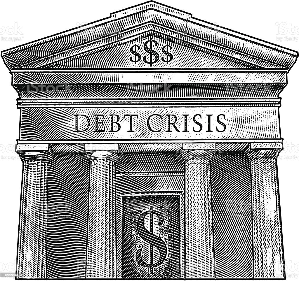 Debt Crisis royalty-free debt crisis stock vector art & more images of accidents and disasters
