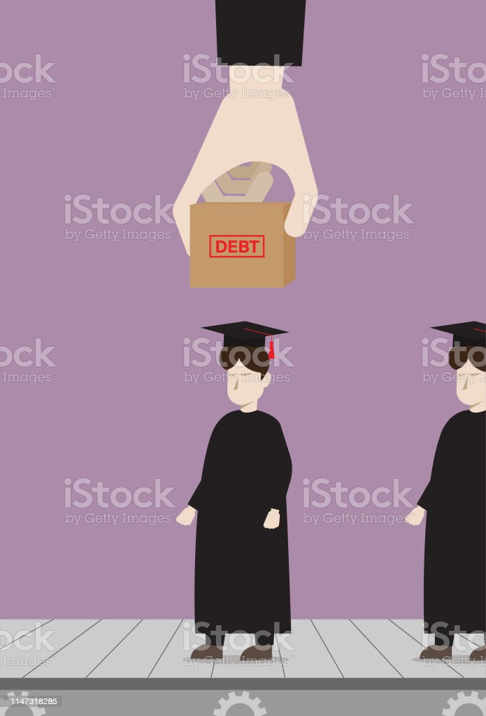 Debt From Education Student Loan Stock Illustration Download Image Now Istock