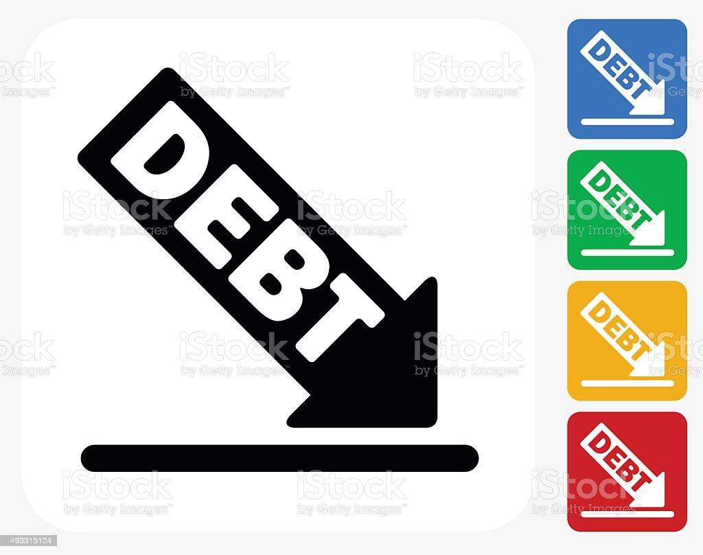 Schulden Symbol Flache Grafik Design Stock Vektor Art und mehr ...