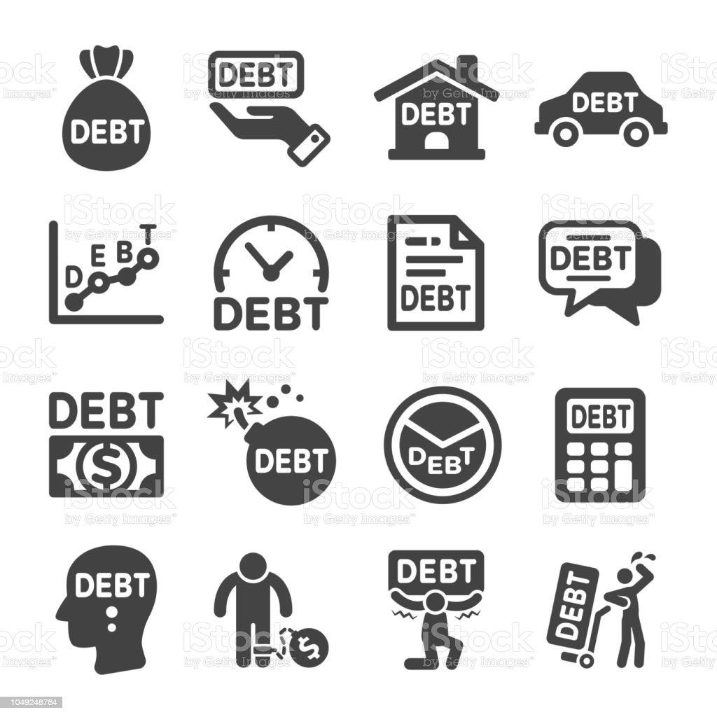 debt icon vector art illustration