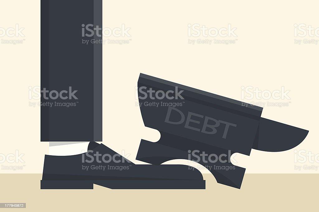 debt royalty-free stock vector art