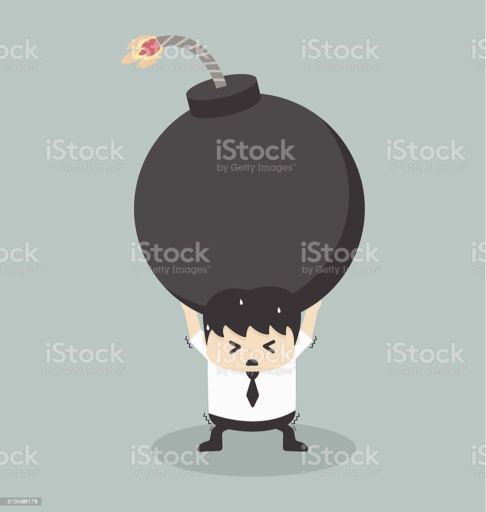 Debt vector art illustration