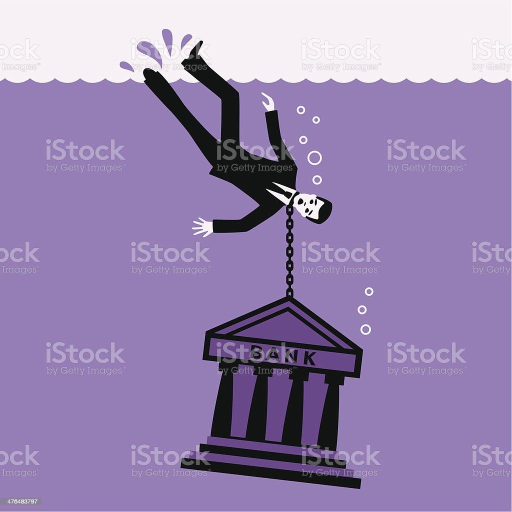 Debtor. royalty-free stock vector art