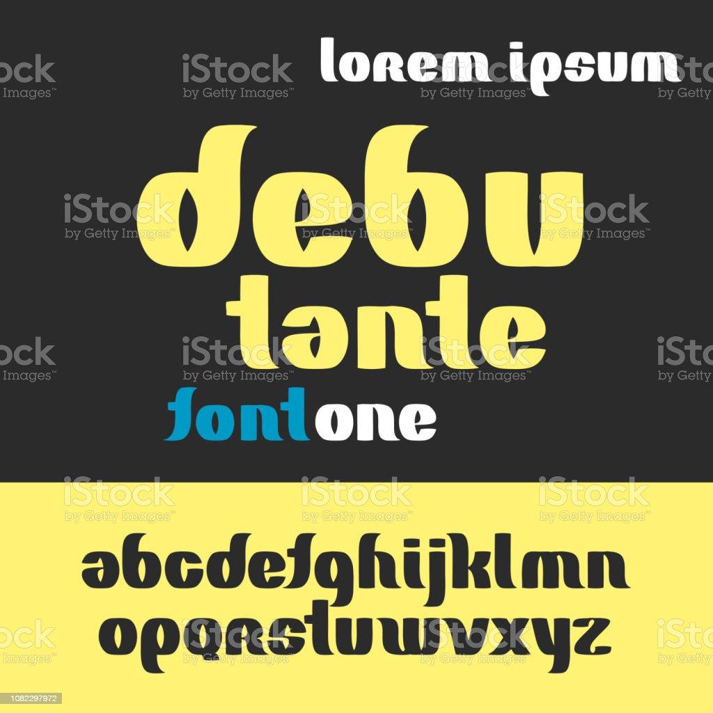 debutante font alphabet set