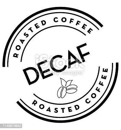 Vector illustration of a Coffee round label on coffee bean textured background. Fully editable eps 10.Vector illustration of a Coffee round label on white background background. Fully editable eps 10.