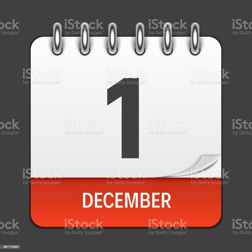 12 月 1 日毎日カレンダーのアイ...