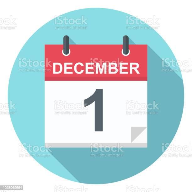 1 December Pictogram Van De Kalender Stockvectorkunst en meer beelden van 2018