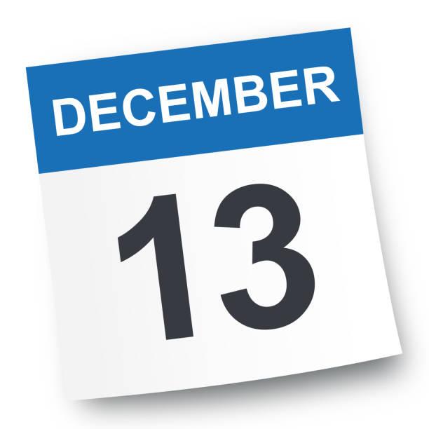 december 13 - calendar icon - calendar stock illustrations, clip art, cartoons, & icons