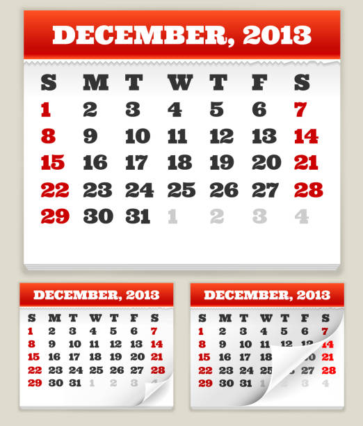 Calendar Pages Vector : Royalty free calendar pages turning clip art vector
