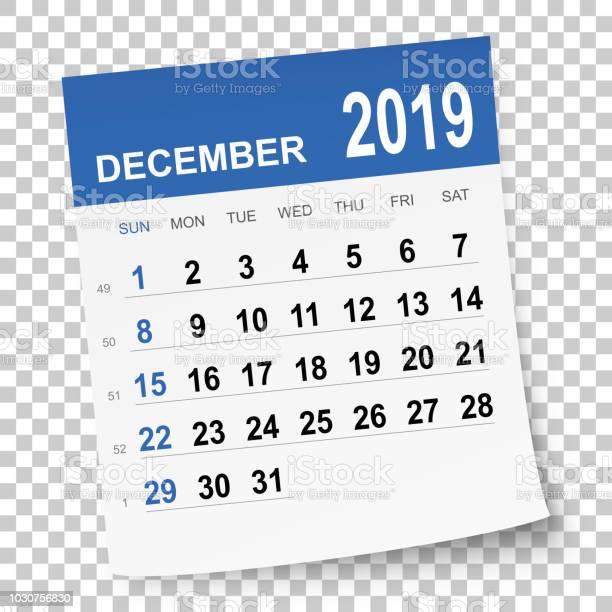 December 2019 Kalender Stockvectorkunst en meer beelden van 2019