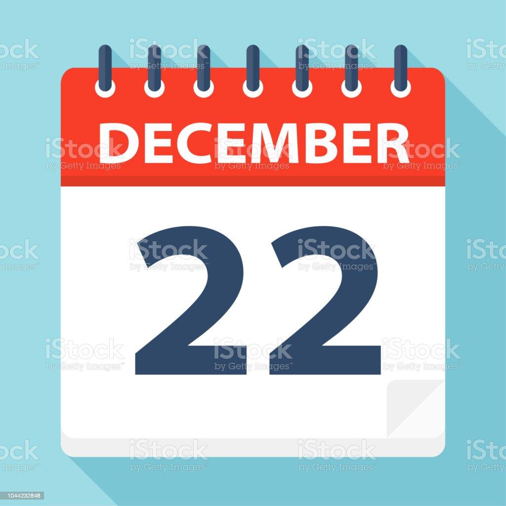 12 月 22 日 カレンダー アイコ...