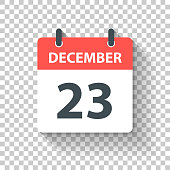 istock December 23 - Daily Calendar Icon in flat design style 1172413128