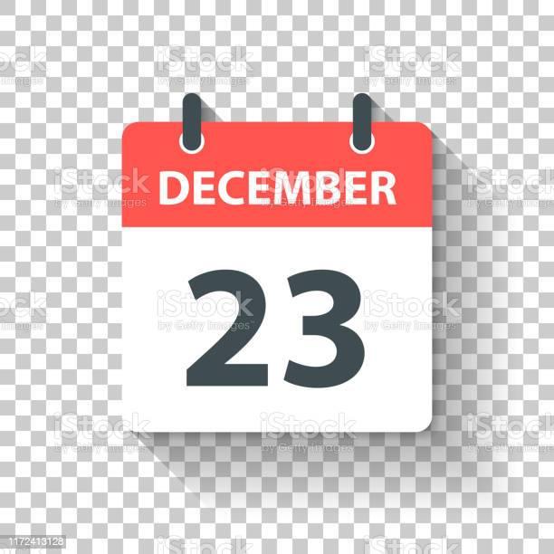 23 Decemberdagelijks Kalenderpictogram In Platte Ontwerp Stijl Stockvectorkunst en meer beelden van 2019