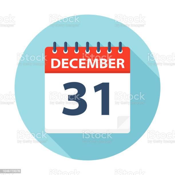 31 December Pictogram Van De Kalender Stockvectorkunst en meer beelden van 2018