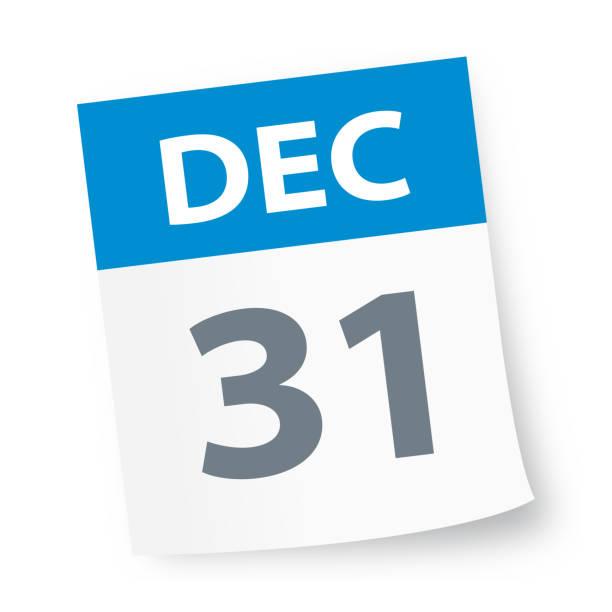 stockillustraties, clipart, cartoons en iconen met 31 december - pictogram van de kalender - december