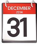 December 31st Calendar