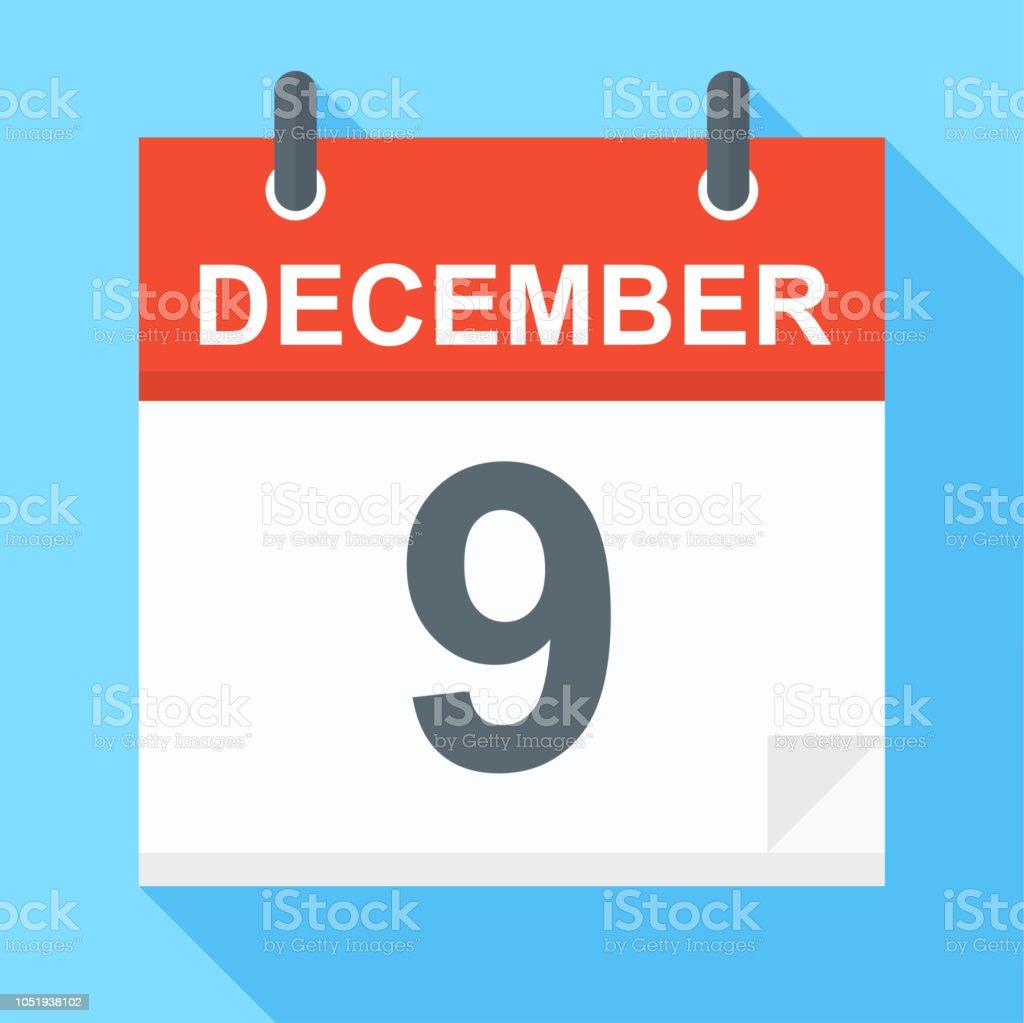12 月 9 日 カレンダー アイコン 2018年のベクターアート素材や画像を