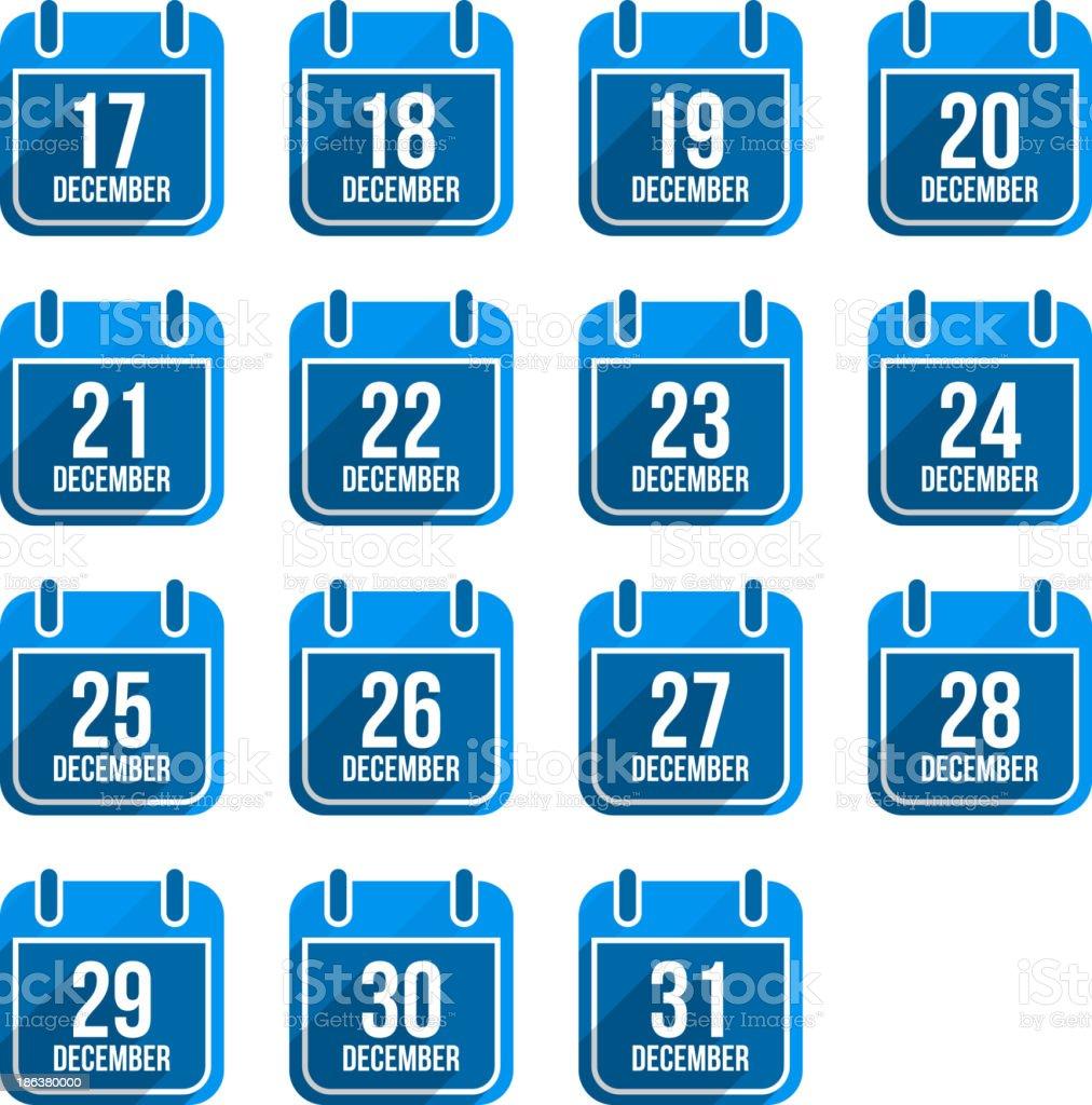 Calendario Con Numero Giorni.Dicembre Calendario Con Lunga Ombra 5 Giorni Dellanno Impostato Immagini Vettoriali Stock E Altre Immagini Di Applicazione Mobile