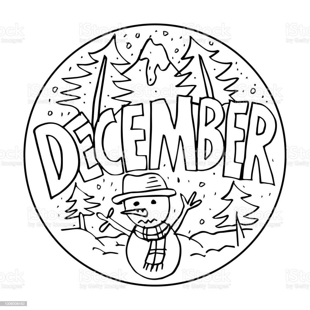 Coloring December pages catalog photo