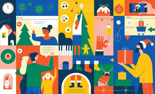 December Holidays Vibrant Concept