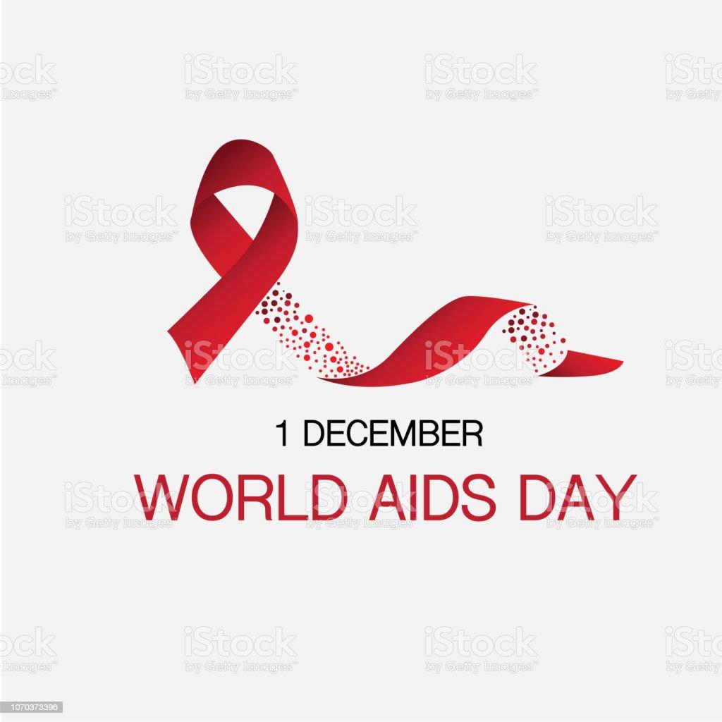 Fita e 1 de dezembro dia mundial da Aids sangue coincidir com conceito - Vetor de AIDS royalty-free