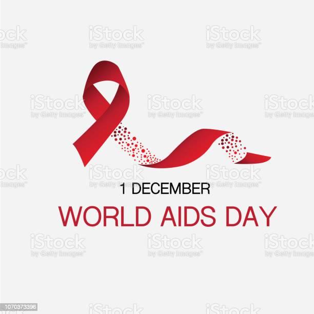 Vetores de Fita E 1 De Dezembro Dia Mundial Da Aids Sangue Coincidir Com Conceito e mais imagens de AIDS