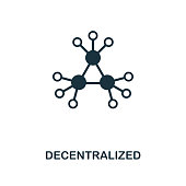 istock Decentralized icon. Monochrome style design from crypto currency icon collection. UI. Pixel perfect simple pictogram decentralized icon. Web design, apps, software, print usage. 1023692398