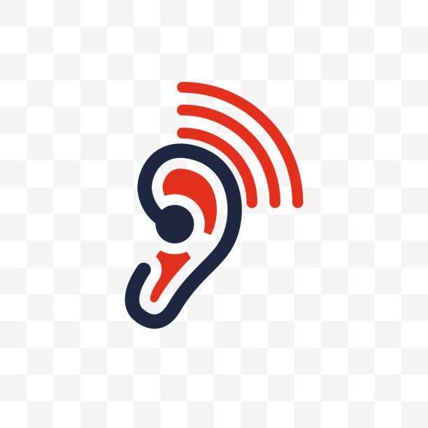 stockillustraties, clipart, cartoons en iconen met decibel pictogram geïsoleerd op witte achtergrond - gehoorverlies