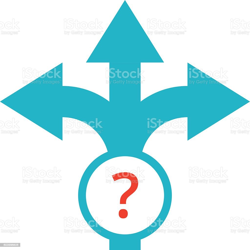 Decision Making Concept vector art illustration