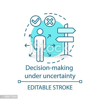 istock Decision-making under uncertainty concept icon 1193572034