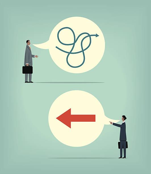 Decisive vector art illustration