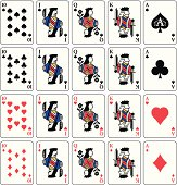 Face cards and Aces. Professional icons for your print project or Web site.