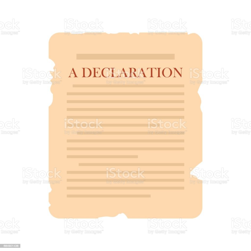 Declaration icon flat vector art illustration
