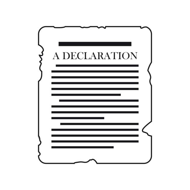 Royalty Free Universal Human Rights Declaration Clip Art