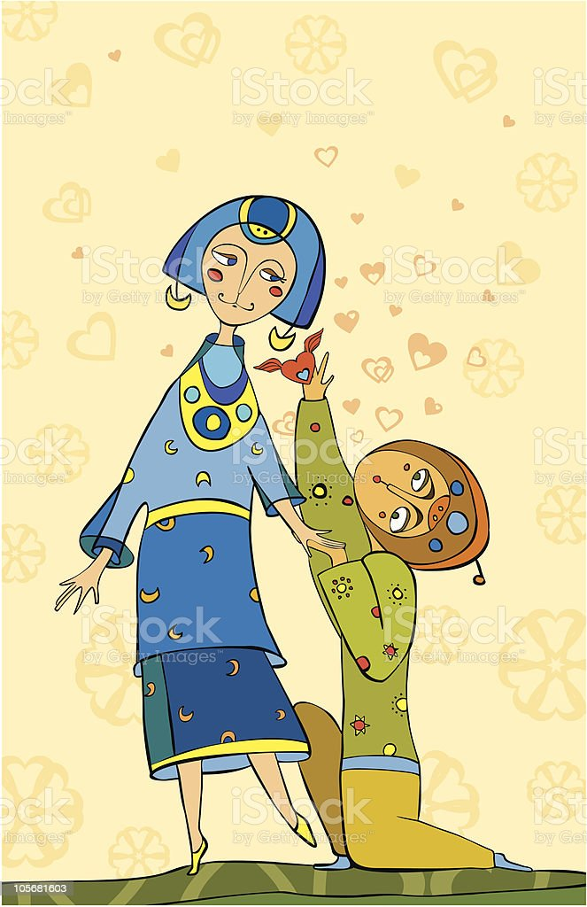 declaration of love royalty-free stock vector art