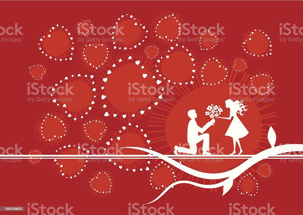 Declaration of love vector art illustration