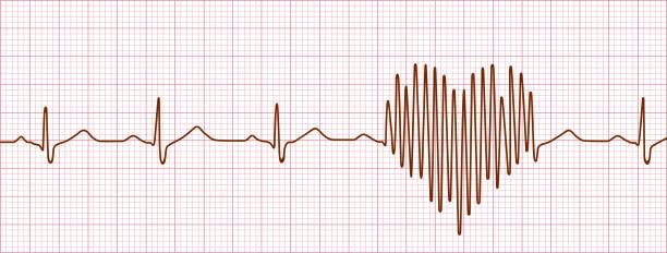 Declaration of Love Cardiogram of declaration of love, vector pulse trace stock illustrations