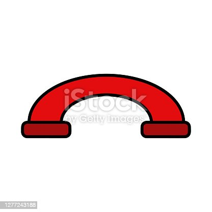 istock Decline phone call button. Handset icon. Red. Vector. Red decline button in flat style. Telephone icon. Phone off icon.  Incoming call. Vector icon. 1277243188