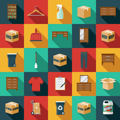 Decluttering Icon Set