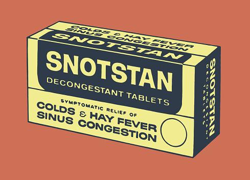 Decongestant Tablets Box