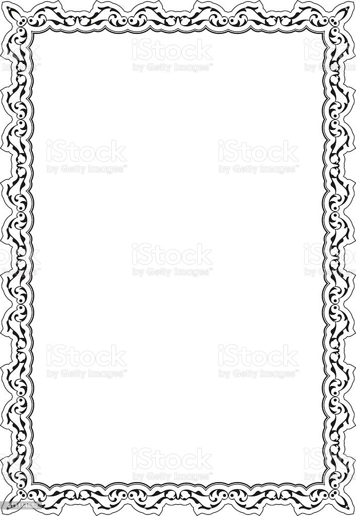 Decor Baroque Nice Frame Stock Vector Art & More Images of ...