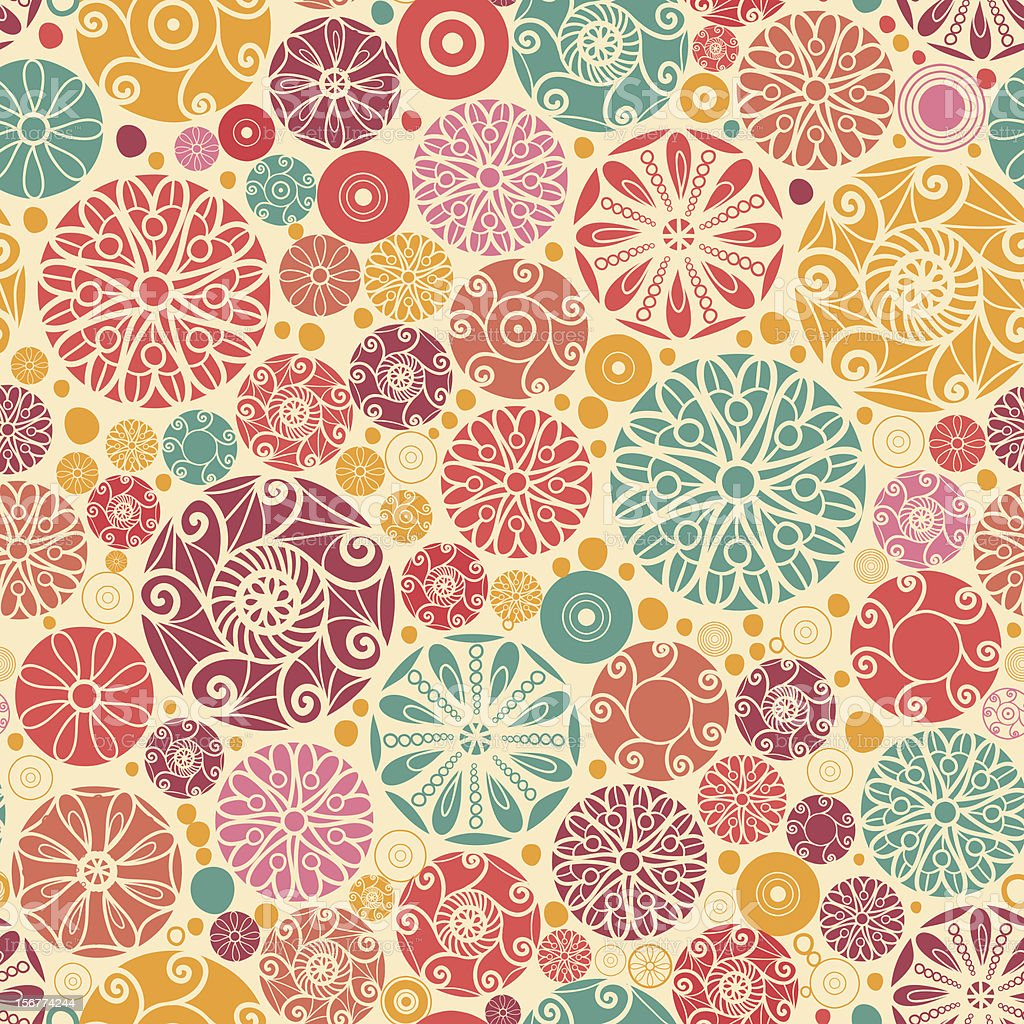 Aninimal Book: Decor Colorful Circles Seamless Pattern Background Stock ...