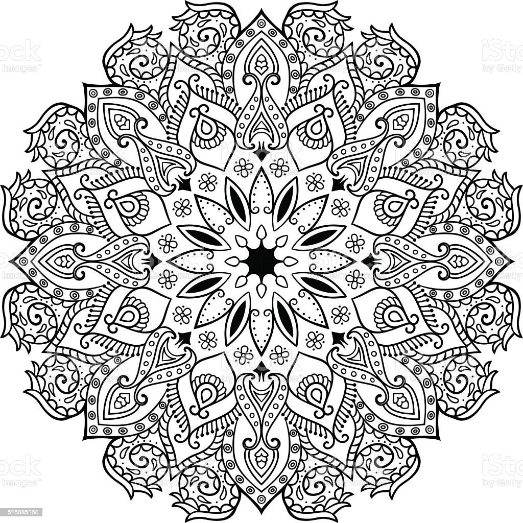 Decor floral mandala vector art illustration