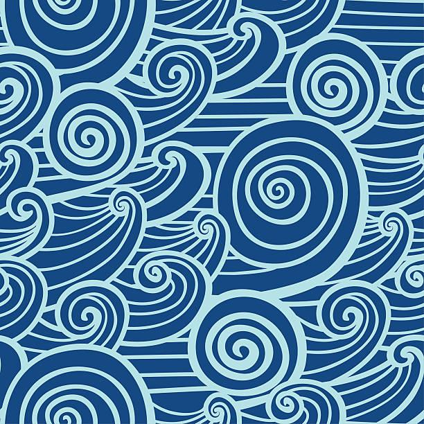 Decor Waves - seamless texture vector art illustration