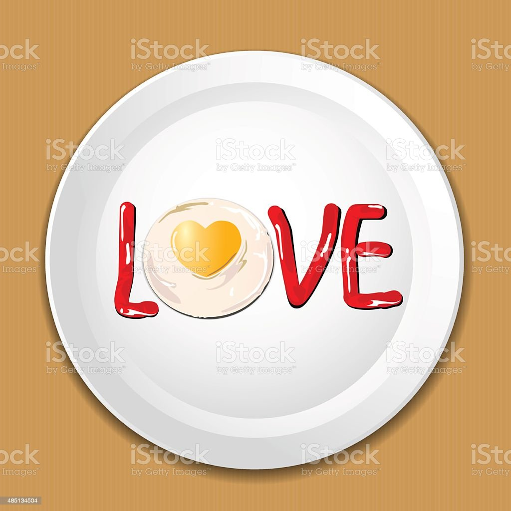 Decorate food with LOVE on a plate royalty-free decorate food with love on a  sc 1 st  iStock & Decorate Food With Love On A Plate Stock Vector Art \u0026 More Images of ...