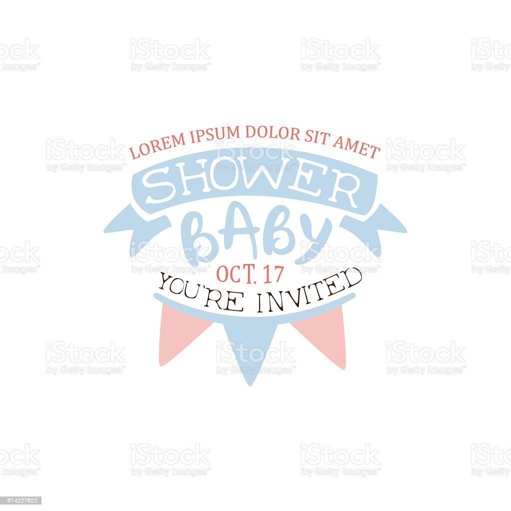 Decorated Baby Shower Invitation Design Template Illustracion Libre