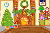 Decorated Christmas House