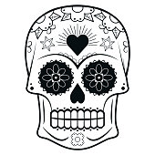 istock Decorated Day of the Dead sugar skull or calavera 1296376298